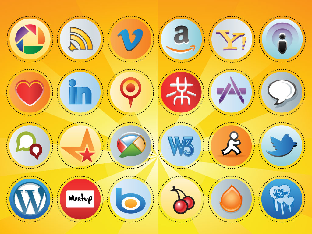 Social Media Button Set
