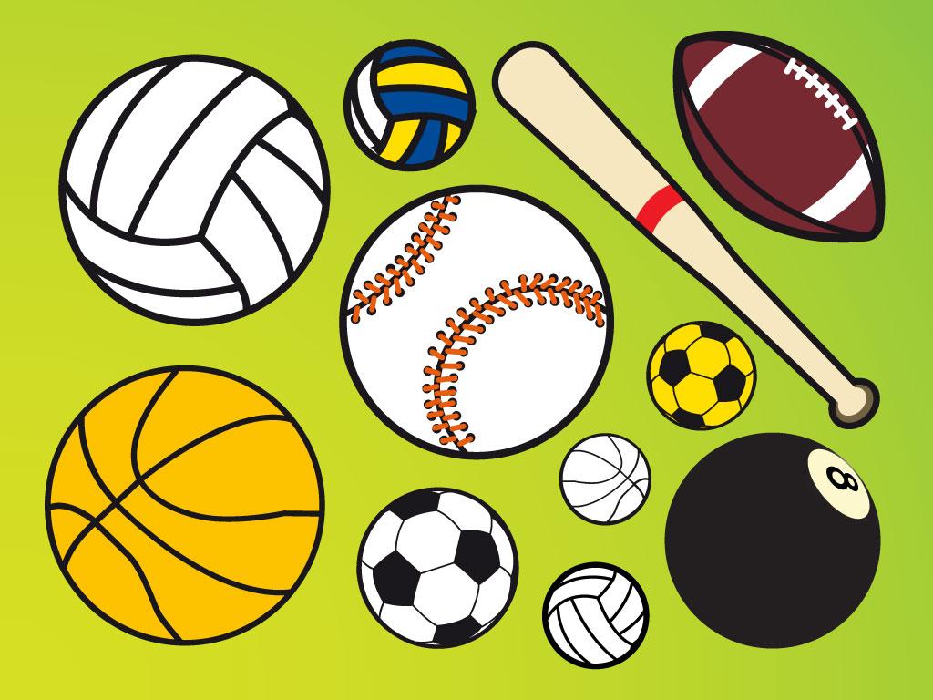 Sport balls vectors for Sports clipart