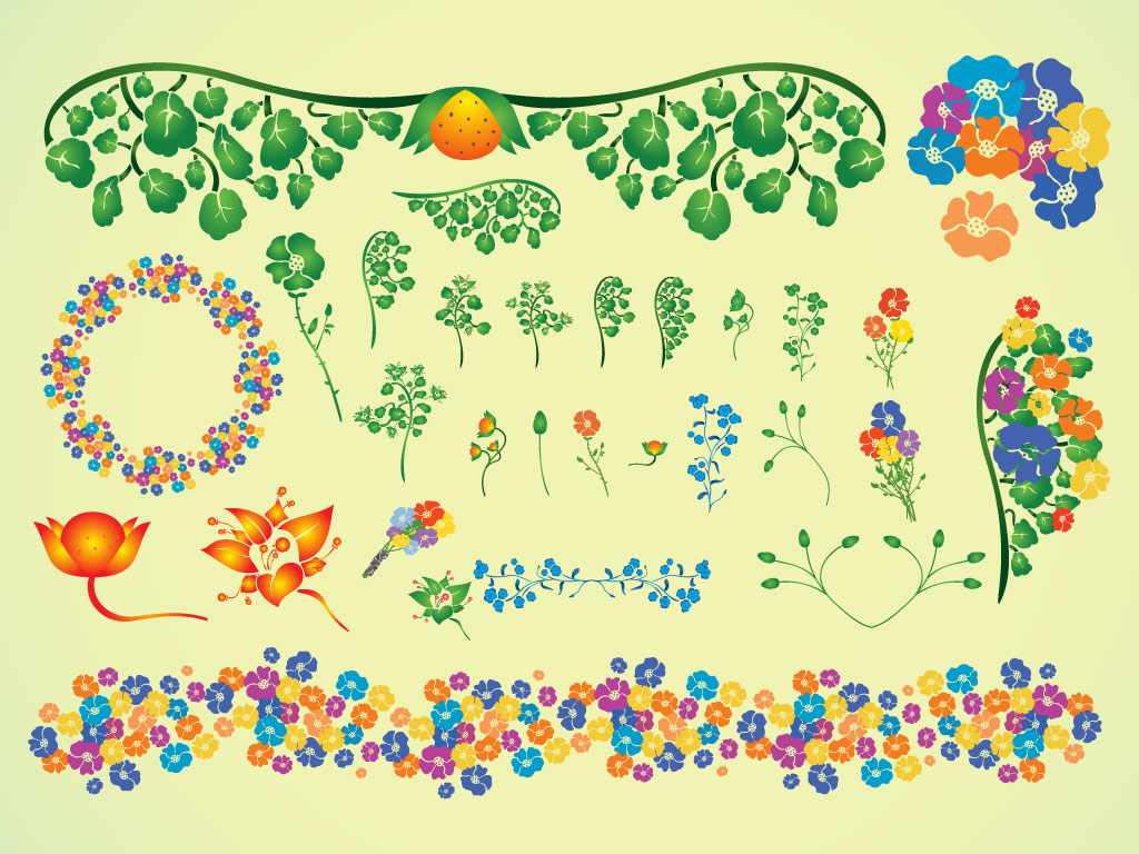 Summer Flower Vectors