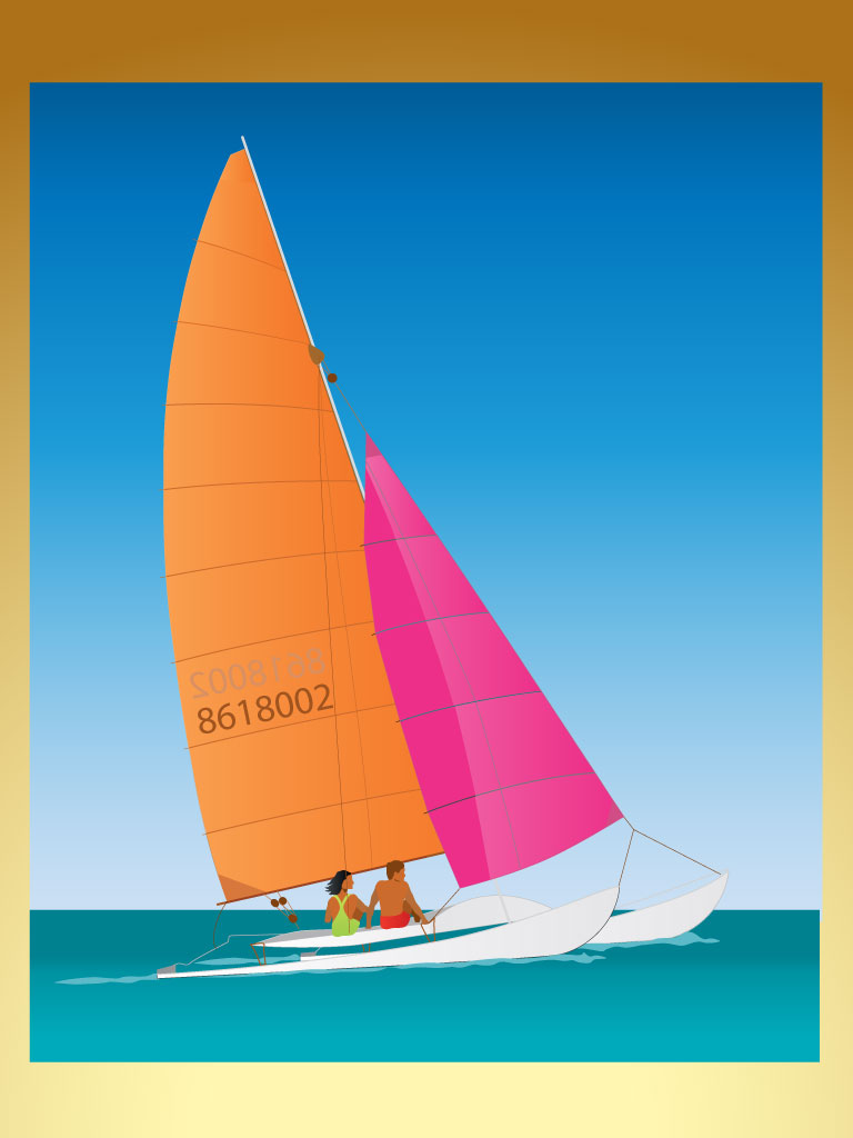 Perfect outdoors and water sports background or wallpaper