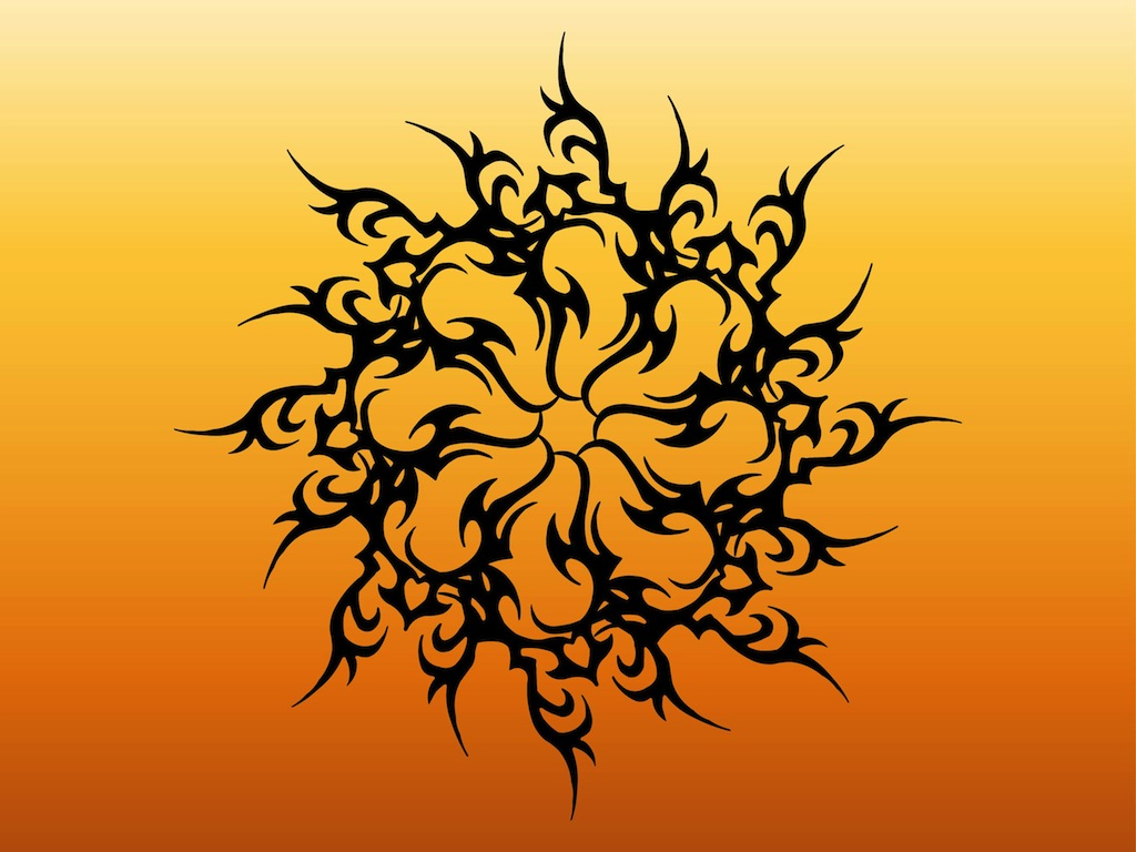 Sun Tattoo Graphics