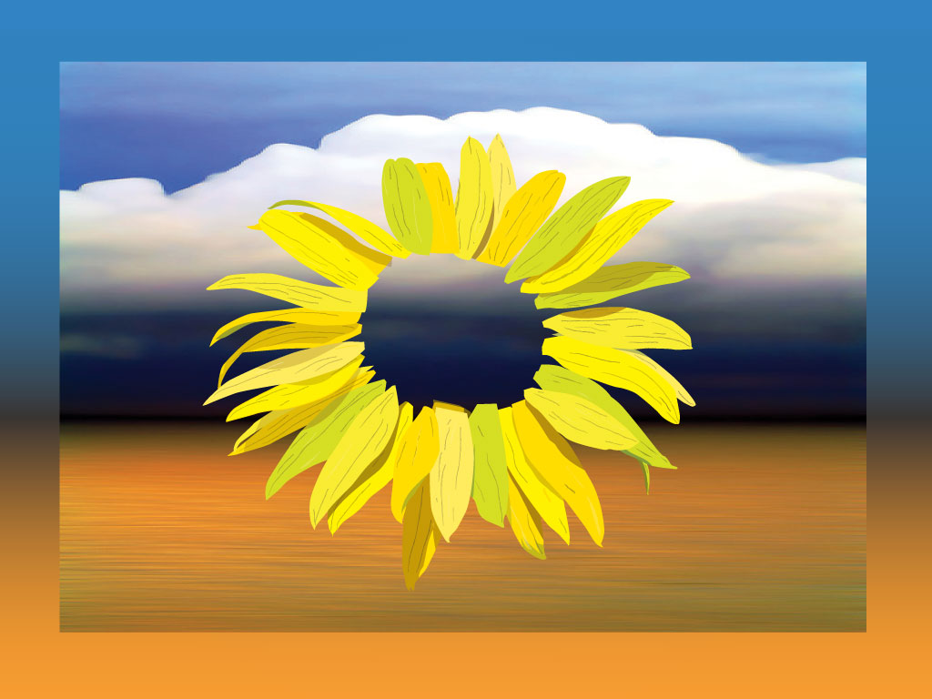 Surrealist Sunflower Landscape