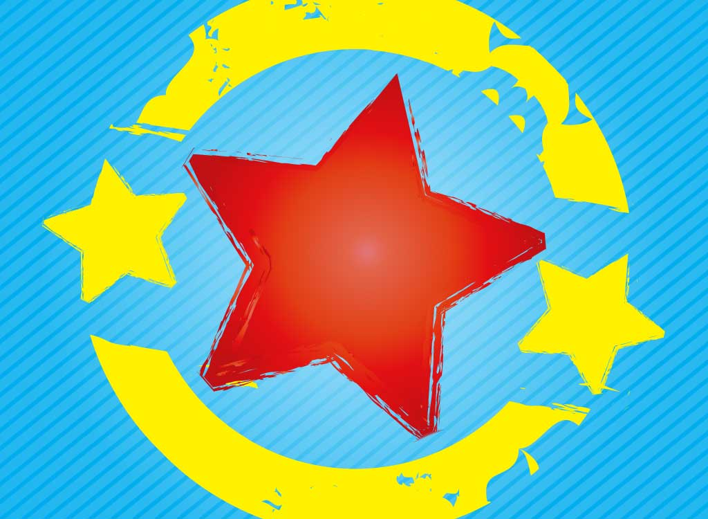 Textured Star Badge