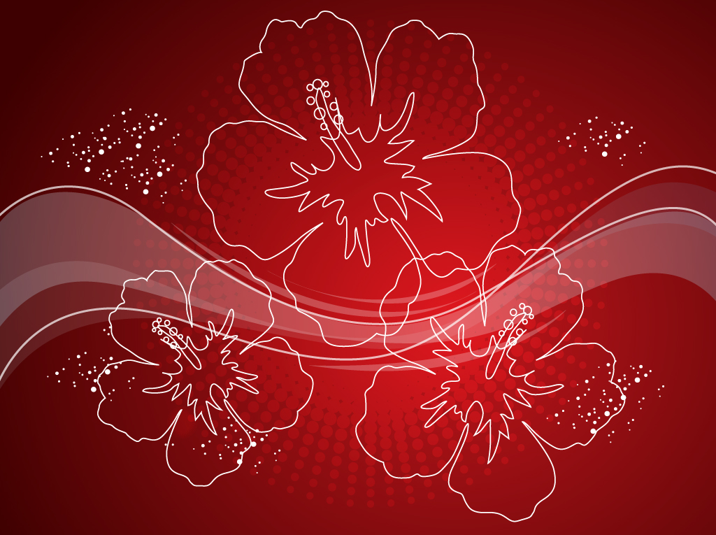 Red Flower Background Designs