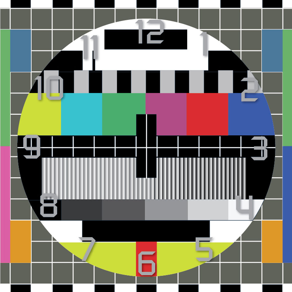 TV Test Signal Clock Face