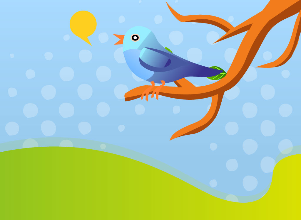Twitter Bird Illustration