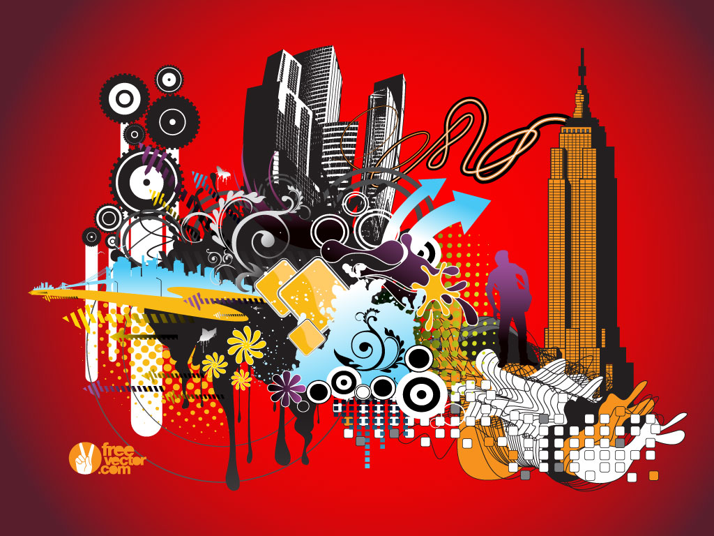 Urban Vectors Collage