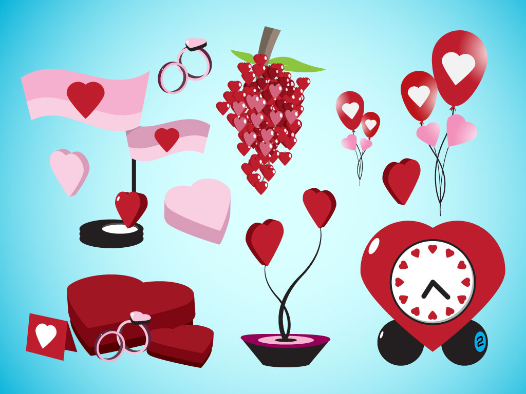 Valentine Vector Objects