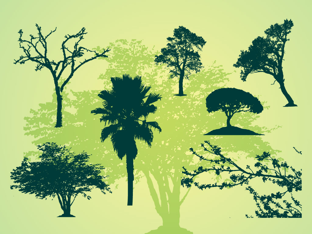 Tree Silhouettes Illustrations