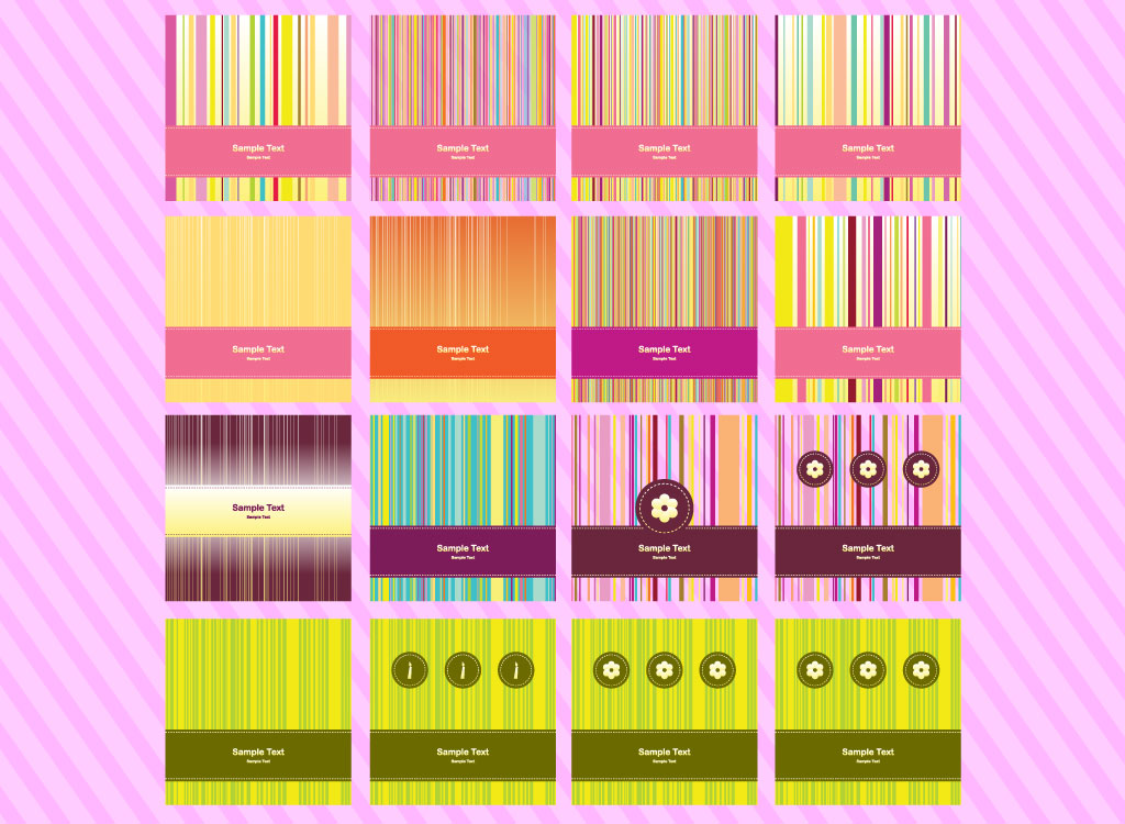 Vertical Stripe Backgrounds