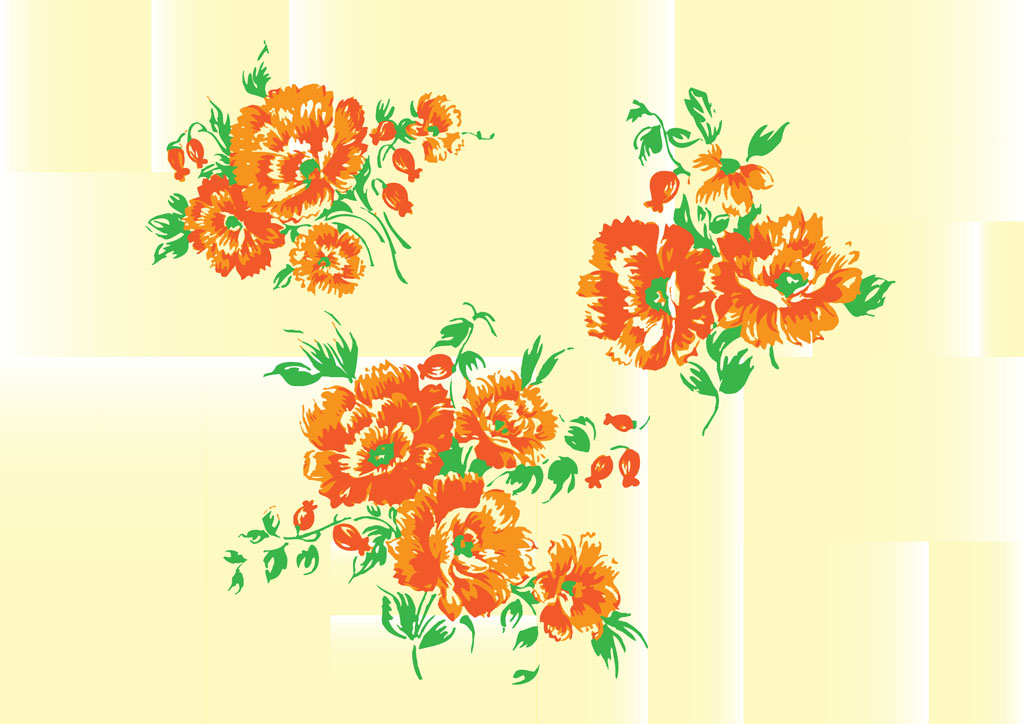 This is a very soft floral design that brings to mind vintage patterns ...
