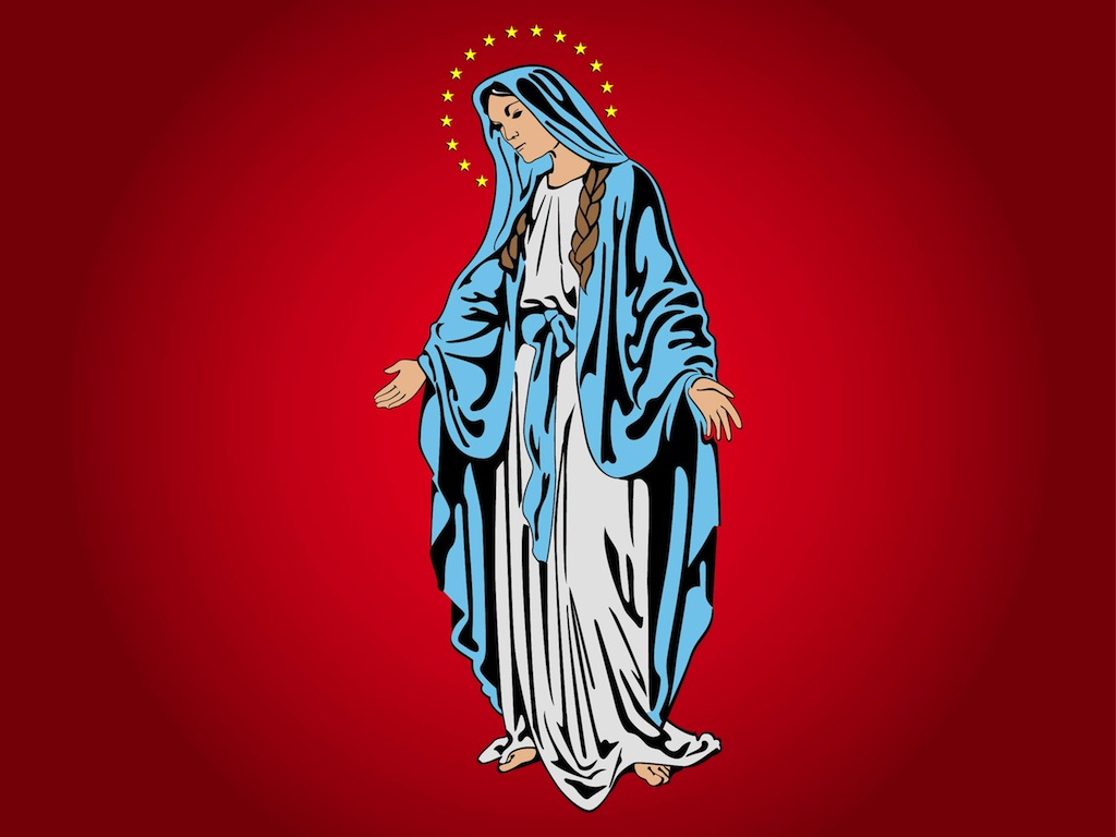Virgin Mary Illustration