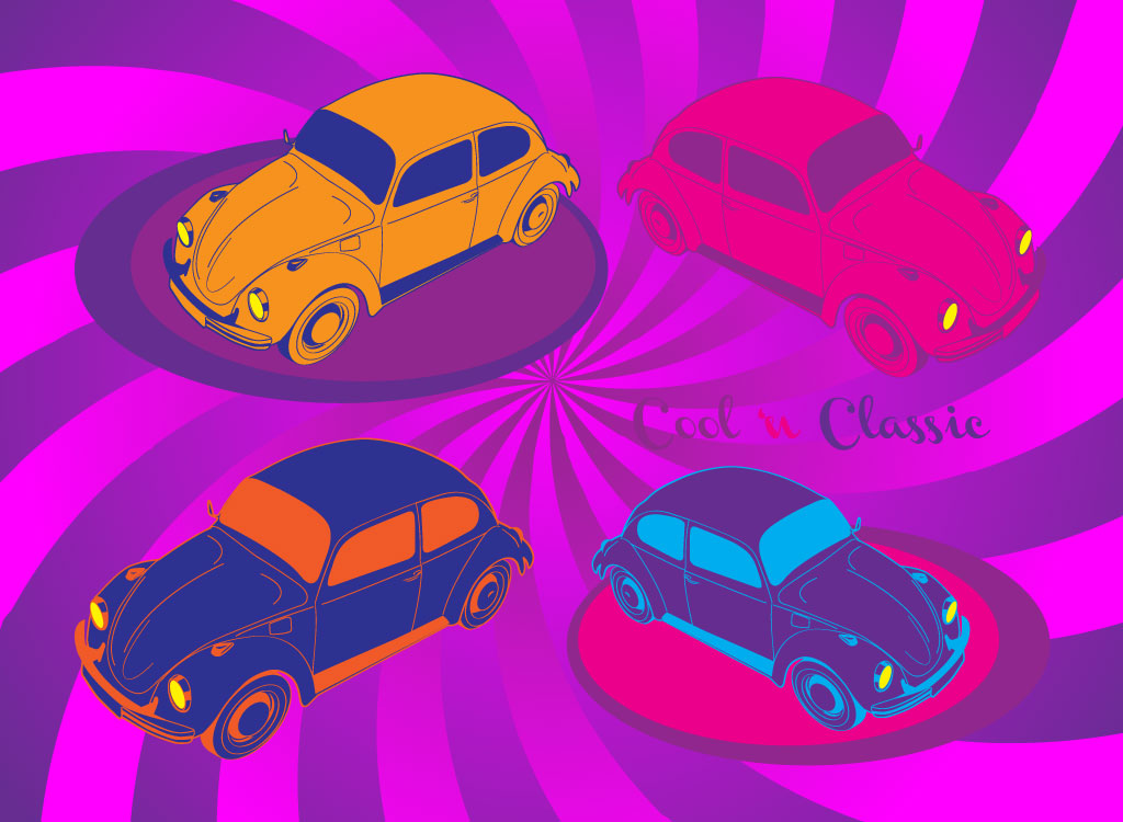 VW Beetle Vectors