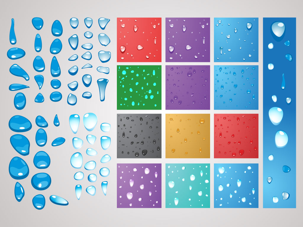 Water Drops Vector Pack