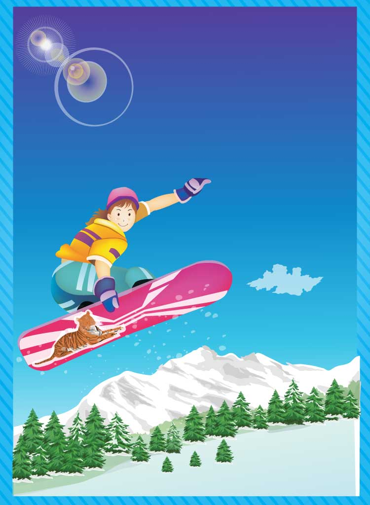 Snowboarding Cartoon